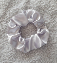 Load image into Gallery viewer, Silver Satin Scrunchie