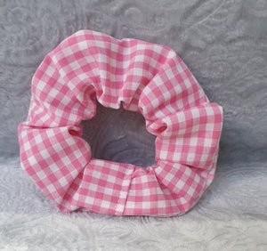 Pink Gingham Scrunchie