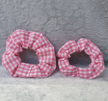 Load image into Gallery viewer, Pink Gingham Scrunchie