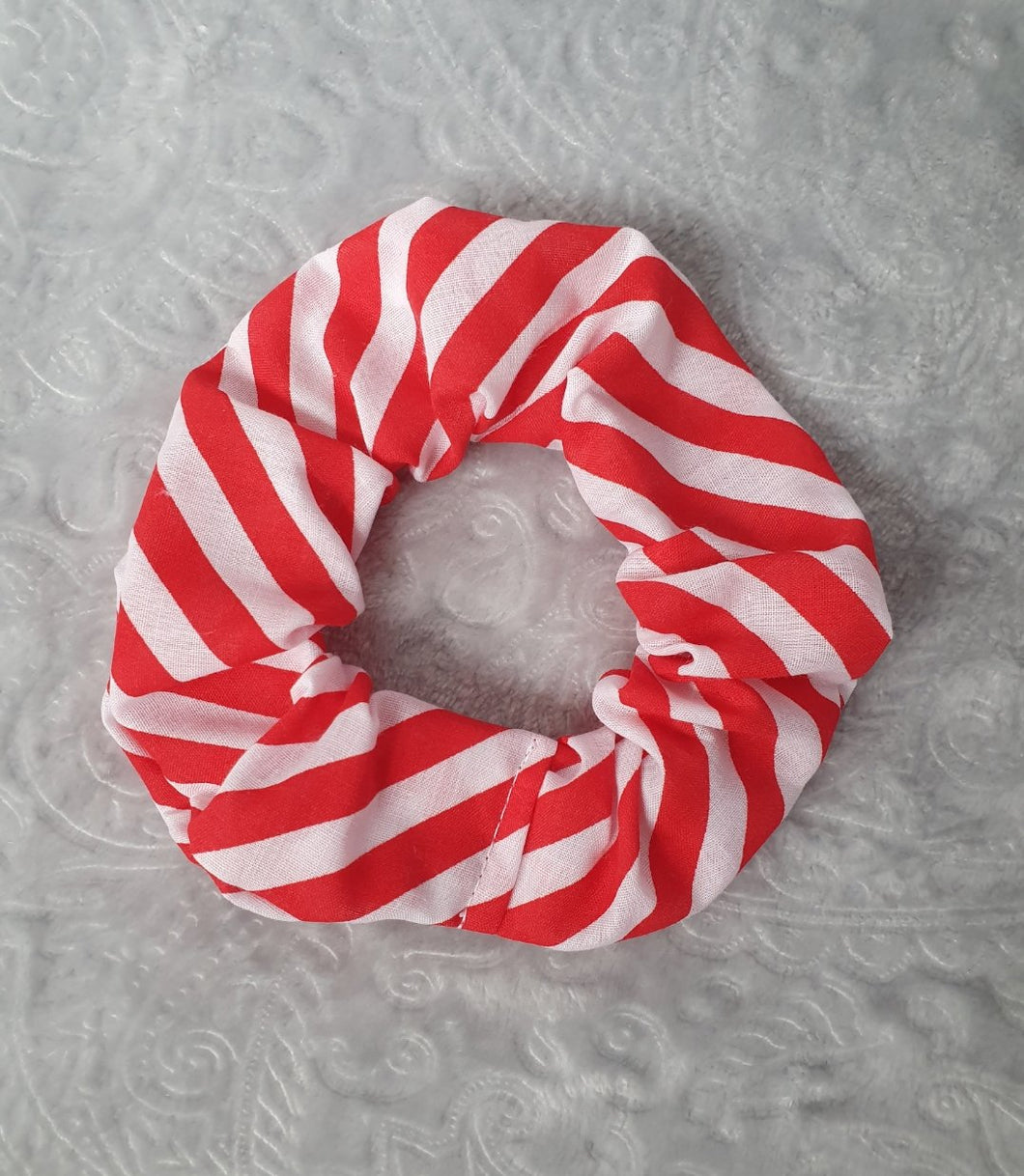 Christmas Candy Stripe Scrunchie