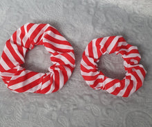 Load image into Gallery viewer, Christmas Candy Stripe Scrunchie