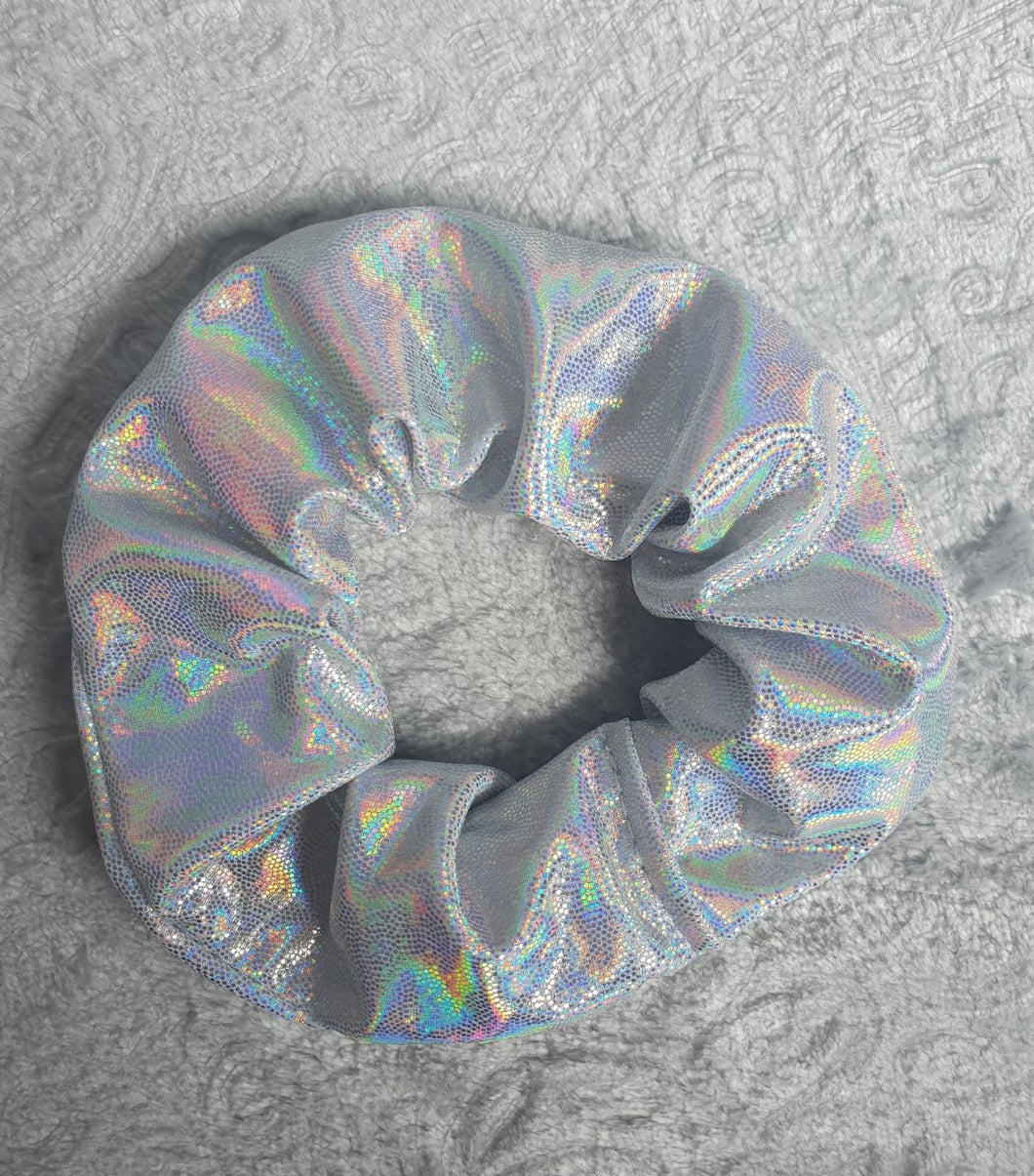 Silver Hologram Scrunchie