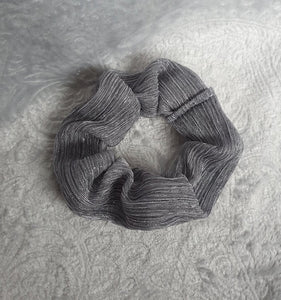 Grey Shimmer Scrunchie