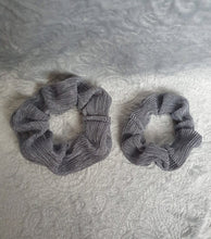 Load image into Gallery viewer, Grey Shimmer Scrunchie