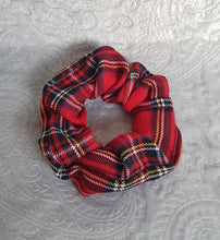 Load image into Gallery viewer, Red Tartan Scrunchie