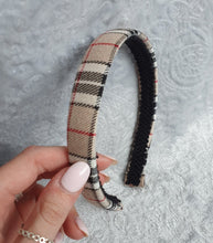 Load image into Gallery viewer, Beige Tartan Aliceband