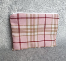Load image into Gallery viewer, Pink Tartan Make Up Pouch