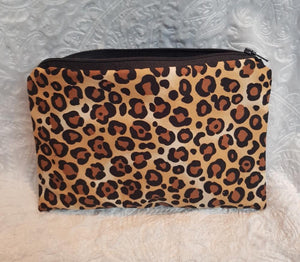 Leopard Print Make Up Pouch