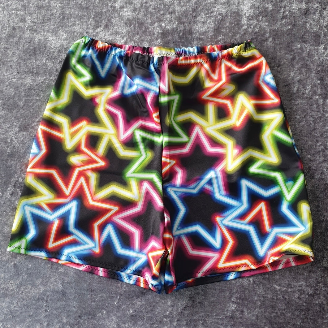 Neon Star High Waisted Shorts Size XS