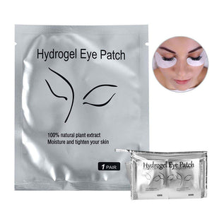 Hydrogel Eye Mask Pads with Transparent Cosmetic Bag (100 pair)