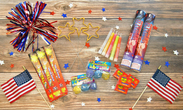 4th of July Sparkler and Confetti Package