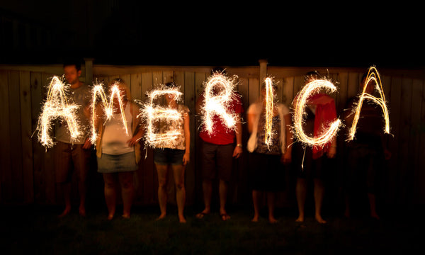 America Sparklers Written Out