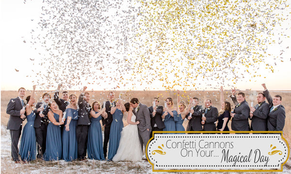 Confetti Cannons on your Magical Day