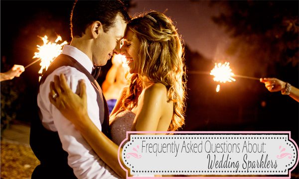 questions about wedding sparklers