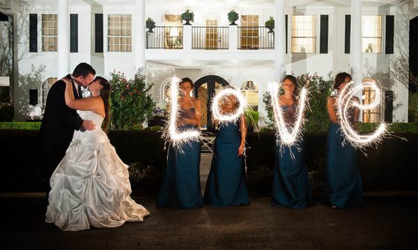 Grand Shot of 36 Inch Wedding Sparklers