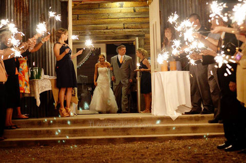 Leigha and Braxton Wedding Sparklers
