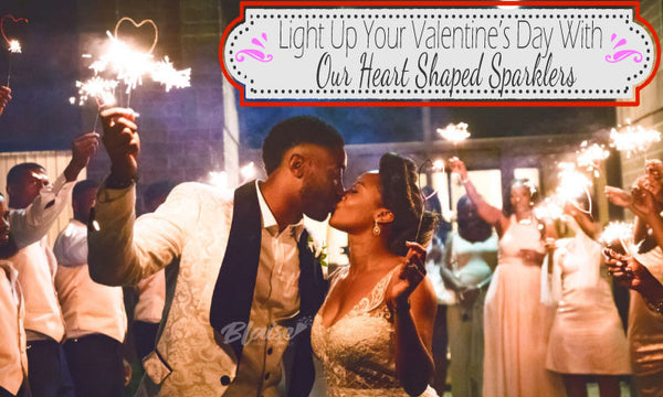 Light Up Your Valentine's Day With Our Heart Shaped Sparklers