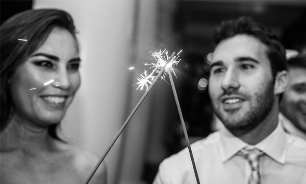 Lighting the Sparklers