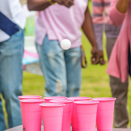 Pink Cup Toss