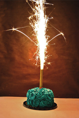 Sparkler Candle in a Cupcake