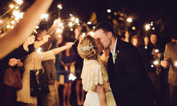 Sparkler Exit Kissing Into the Night