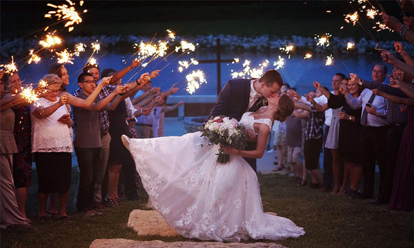 Sparklers Provide a Magical Quality to a Send Off