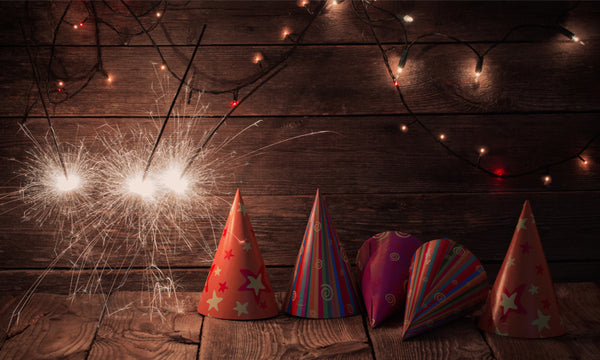 Sparklers with Party Hats