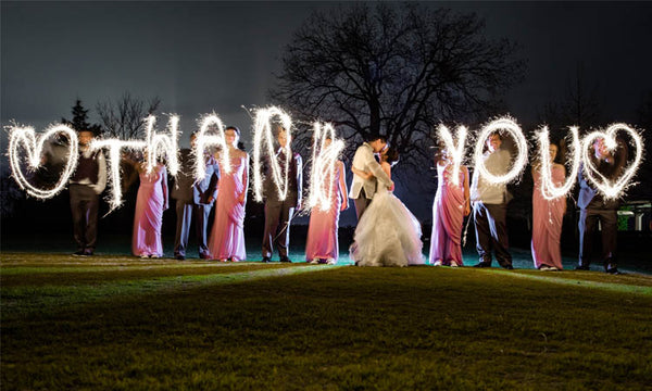 Thank You Sparklers Written Out