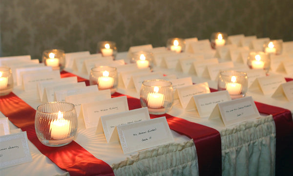 Guest Table WIth Candles