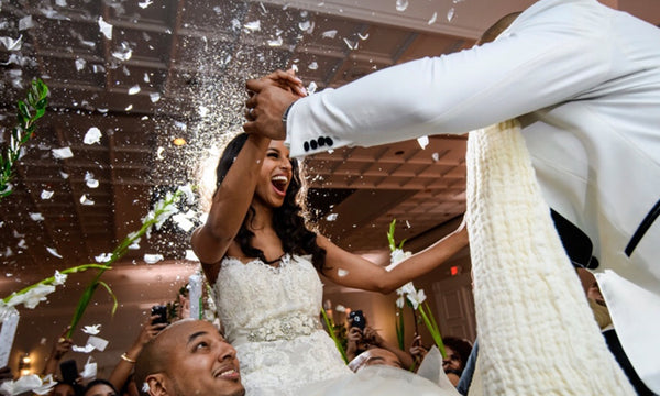 White Wedding Confetti Party