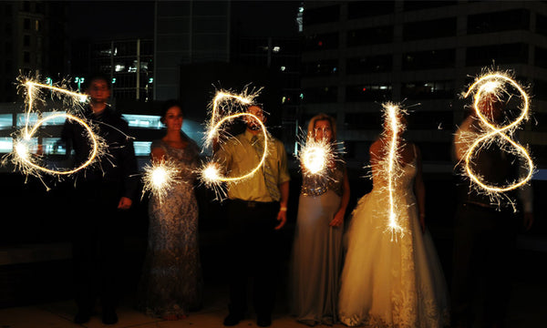 Writing Dates With Wedding Sparklers