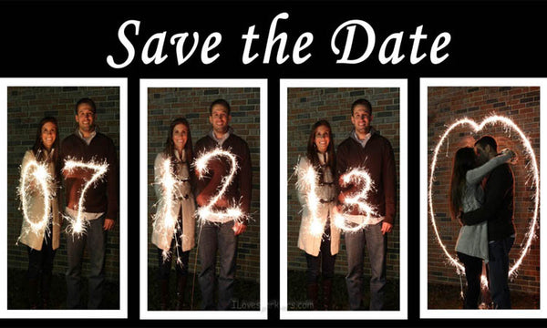 save the date sparklers