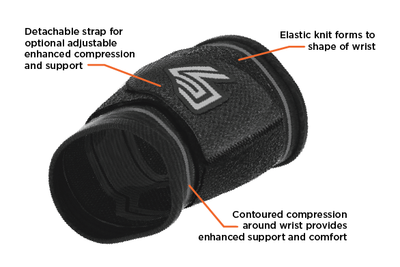 Compression Knit Wrist Sleeve with Strap