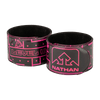 Nathan Pink Reflective Slap Bands - Arm Wrapped - Will Run For Tacos and Pizza