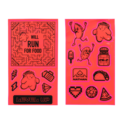 Nathan Pink Reflective Visibility Sticker Packs - Will Run for Tacos and Pizza
