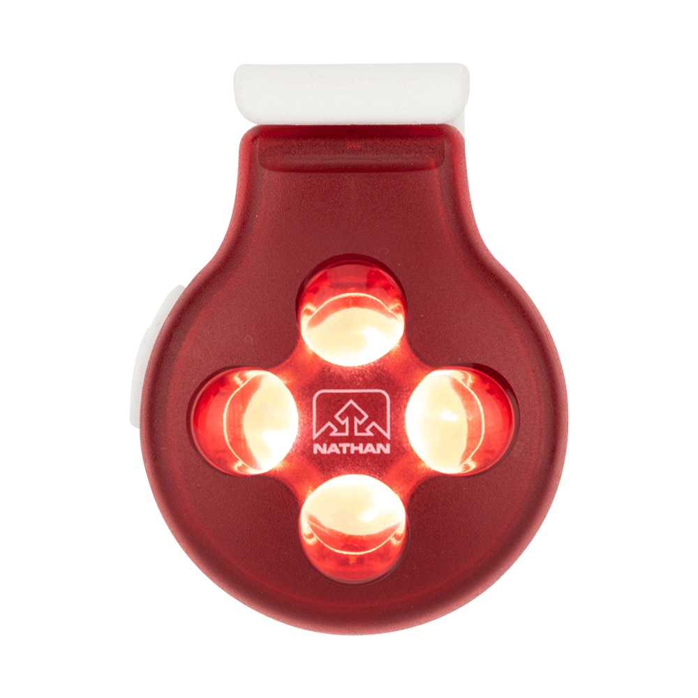 HyperBrite Orb Red LED Clip Light - Light ON