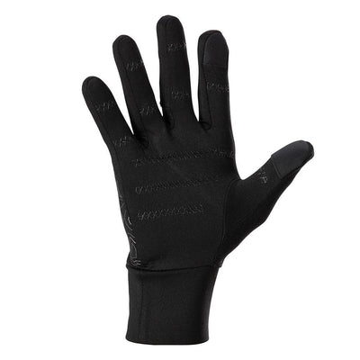 NATHAN Men's Black Reflective Gloves with Topography Design - Palm View