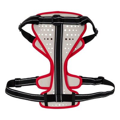 Nathan K9 White-Red Dog Harness with Black Accents – Floating Back Hero Shot