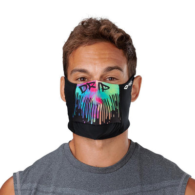 Drip Play Safe Face Mask – Male Model Wearing Protective Safety Face Mask - Front Angle