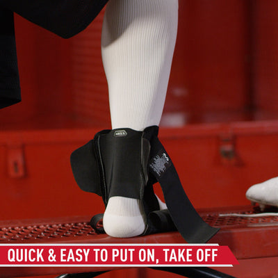 "McDavid Stealth Cleat Ankle Brace - Tech Callout -  Direct Rear-Entry Design Without Laces Takes the Struggle Out of ""Pulling On"" and ""Taking Off"""