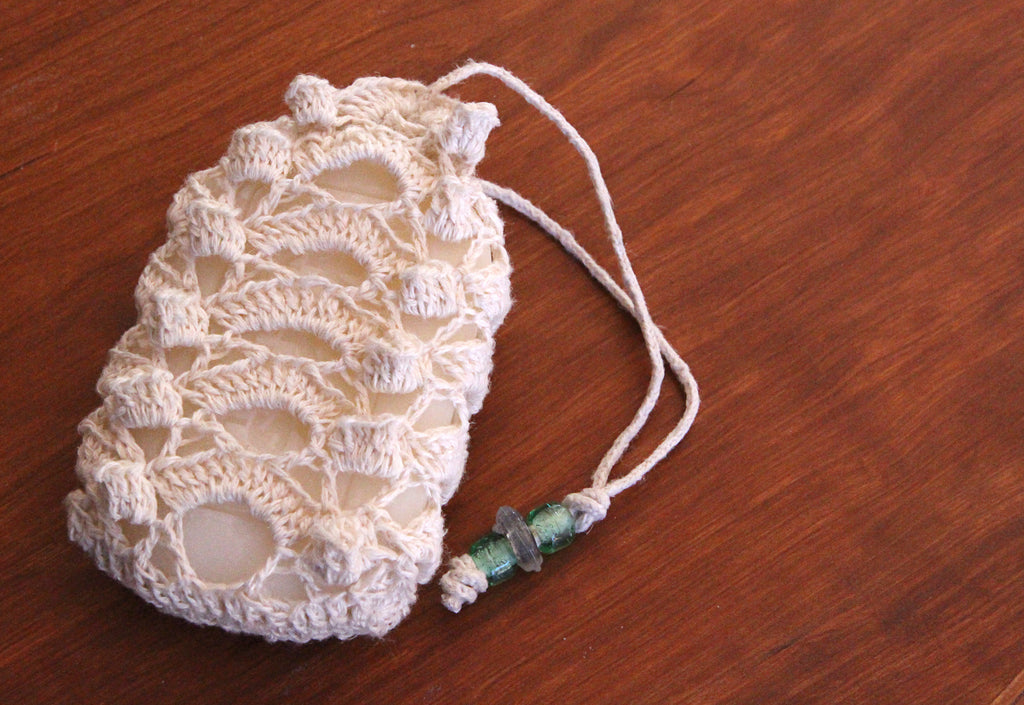 Crochet Lace Soap Sachet Washcloth