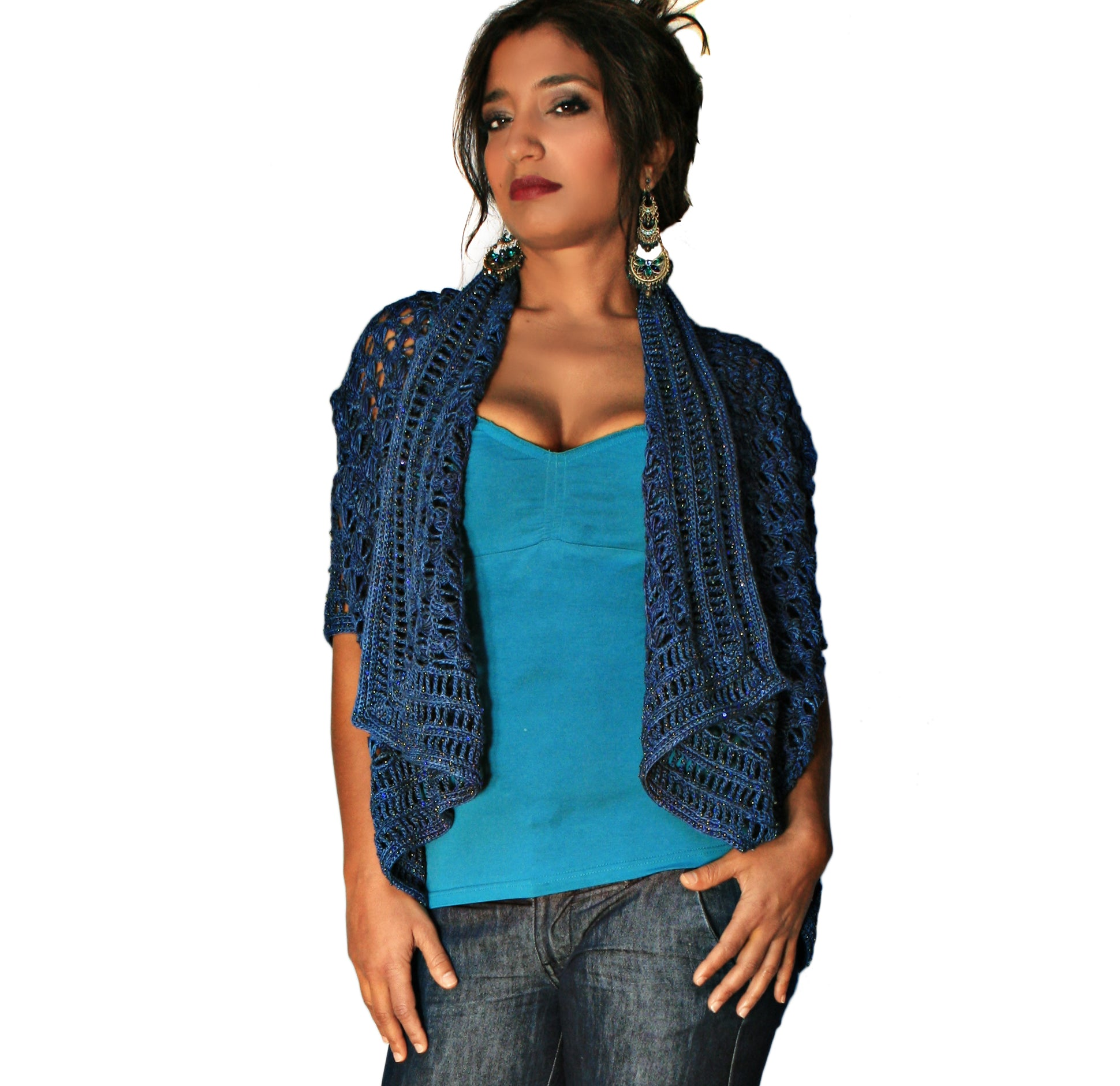 Endless Broomstick Lace Cardi Shawl