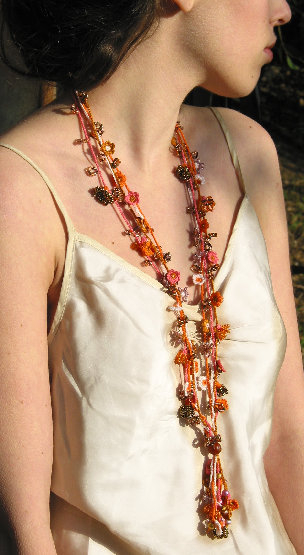 Shimmering Thread Necklaces
