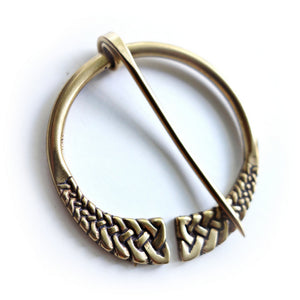 Medium Celtic Penannular Shawl Pin (Bronze)
