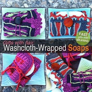 Washcloth Wrapped Soaps