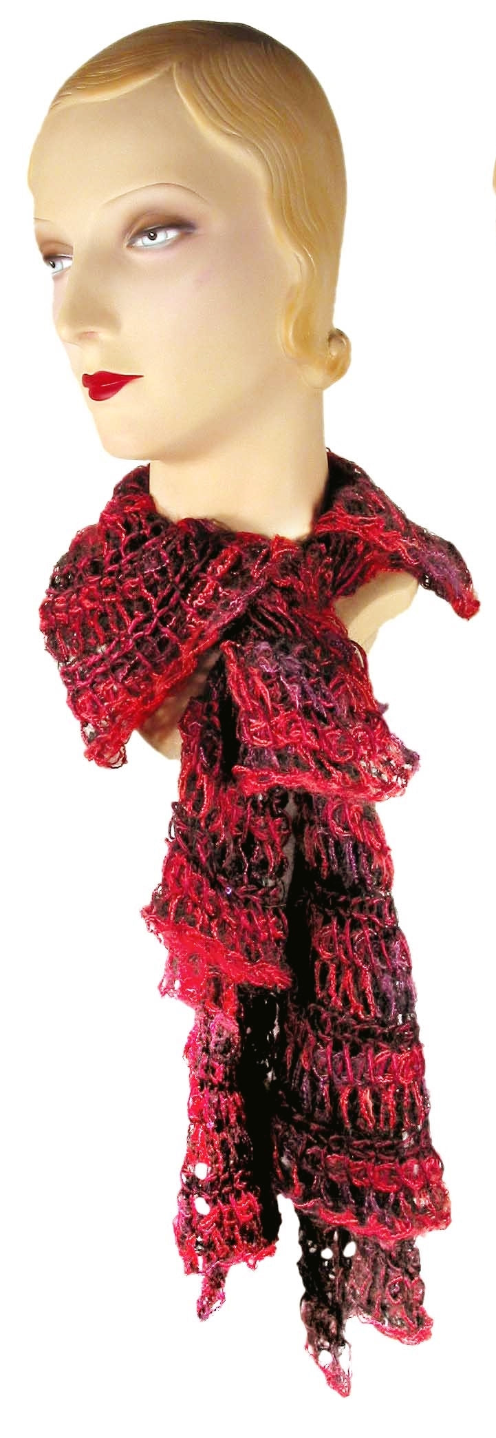 Falling Layers Scarf - Hand Knitted