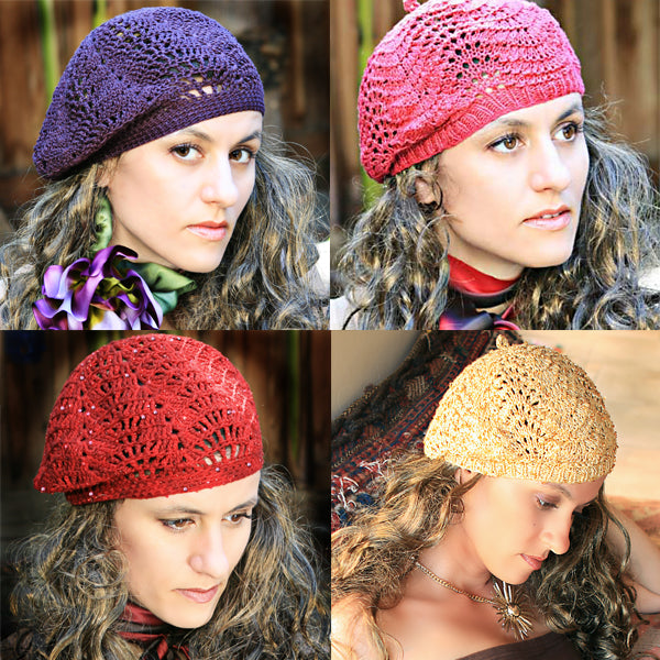 Slouchy Lace Berets