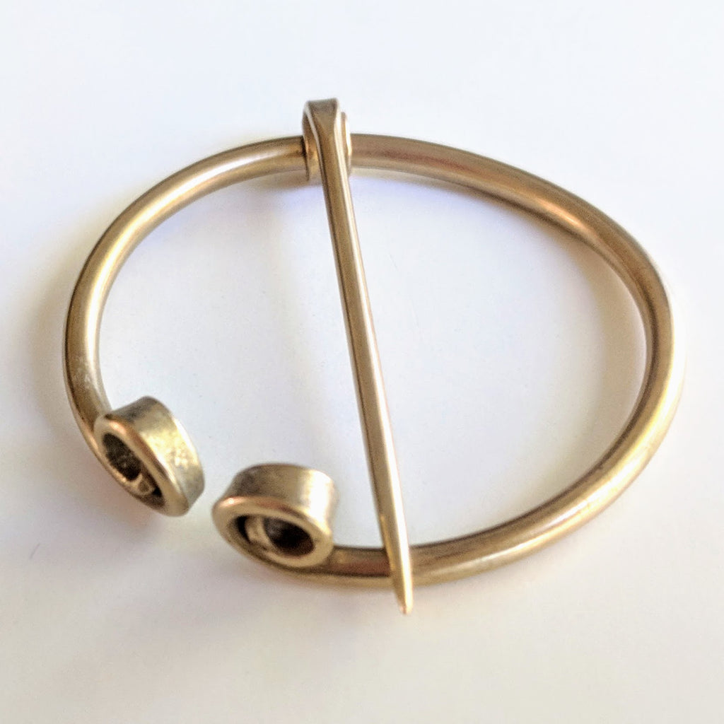Raised Scrolled Penannular Shawl Pin