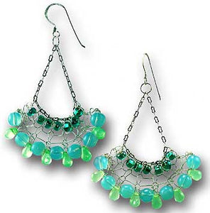 Knitted Chandelier Earrings