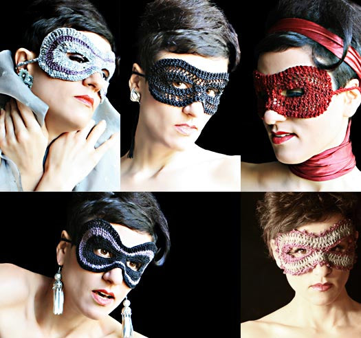 Masquerade: Knit and Crocheted Masks